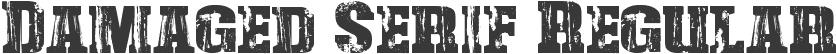 Damaged Serif Regular