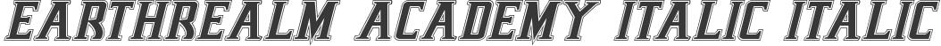 Earthrealm Academy Italic Italic