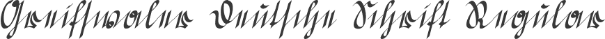 Greifswaler Deutsche Schrift Regular