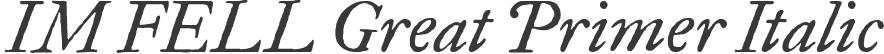 IM FELL Great Primer Italic