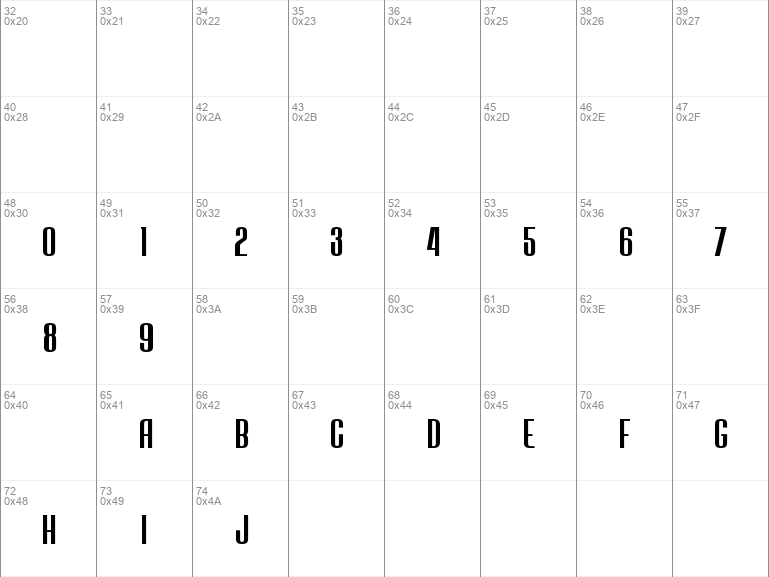 JECR Font Regular Regular