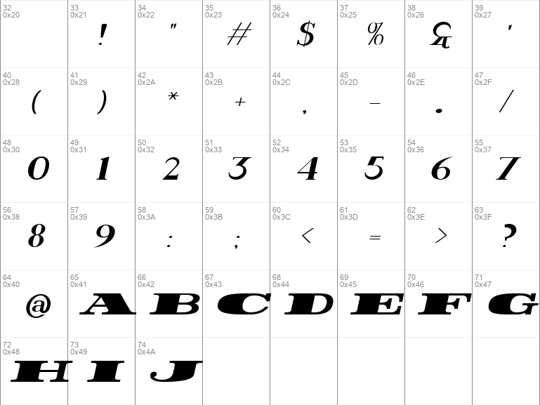 Rider Wide Expanded ExtraBlack Italic