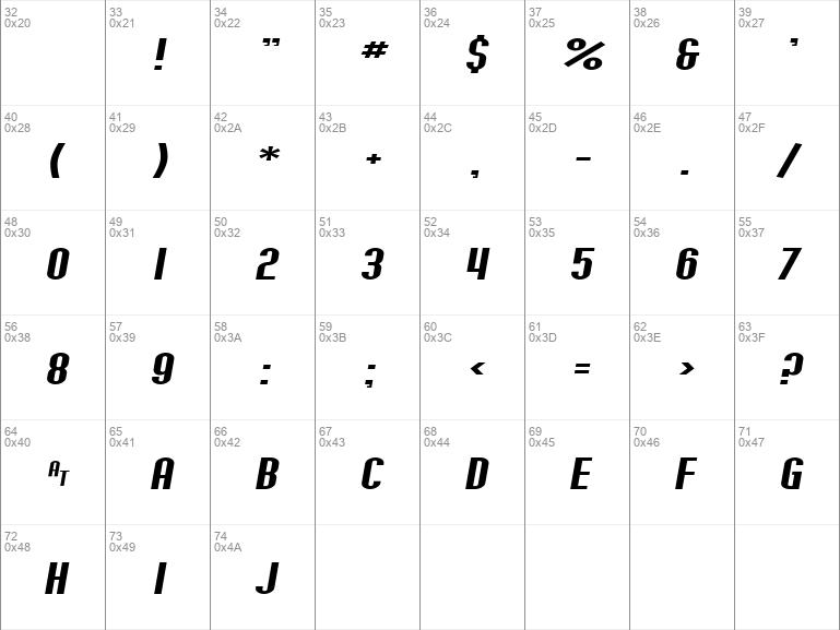 SF Willamette Extended Italic