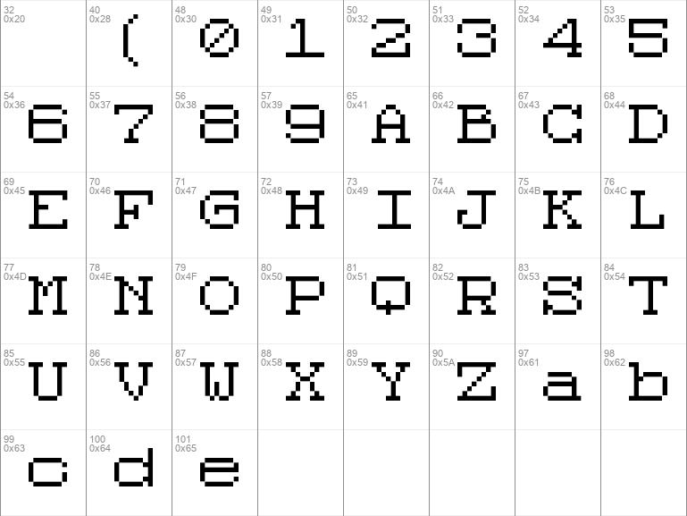 Code 8x8 Regular