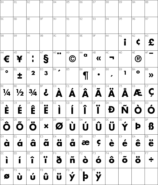 Download free Futura LT Bold font   dafontfree net