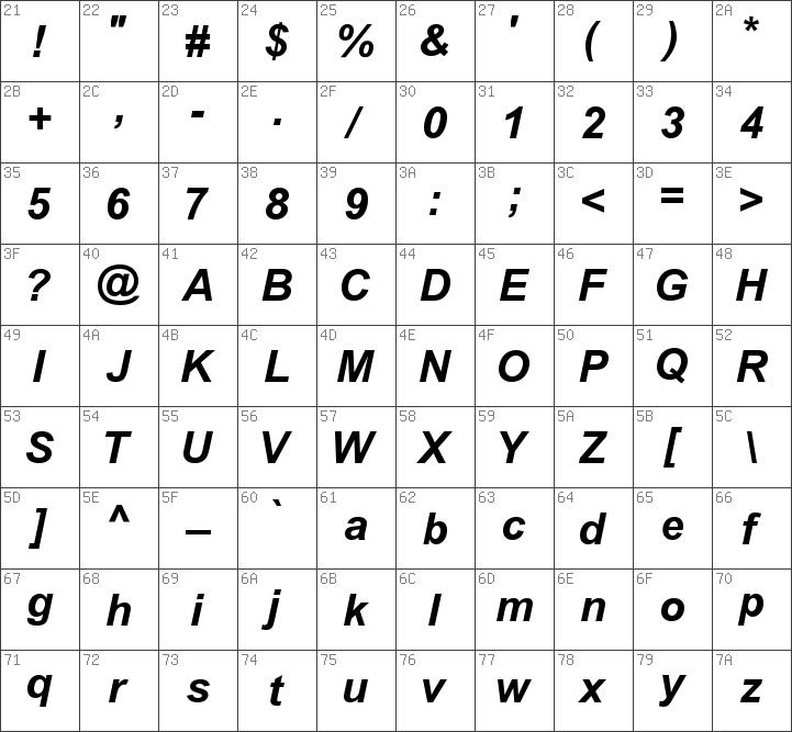 Download free SUNA Arial Bold Italic font | dafontfree net