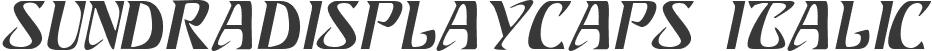 SundraDisplayCaps Italic