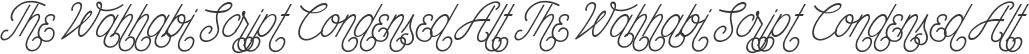 The Wahhabi Script Condensed Alt The Wahhabi Script Condensed Alt