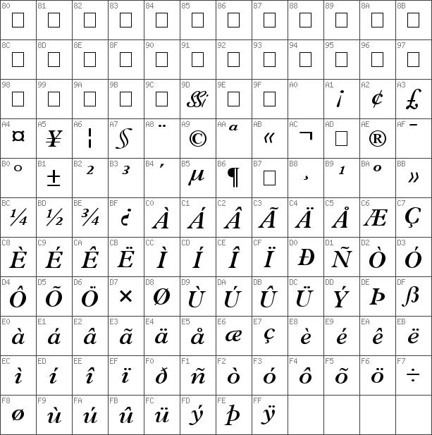 Download free Terminus SSi Semi Bold Italic font