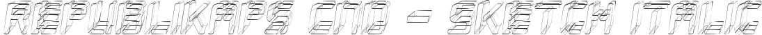 Republikaps Cnd - Sketch Italic