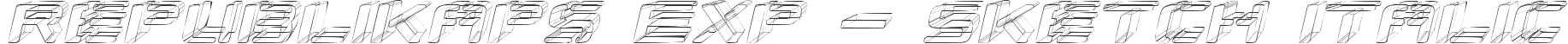 Republikaps Exp - Sketch Italic