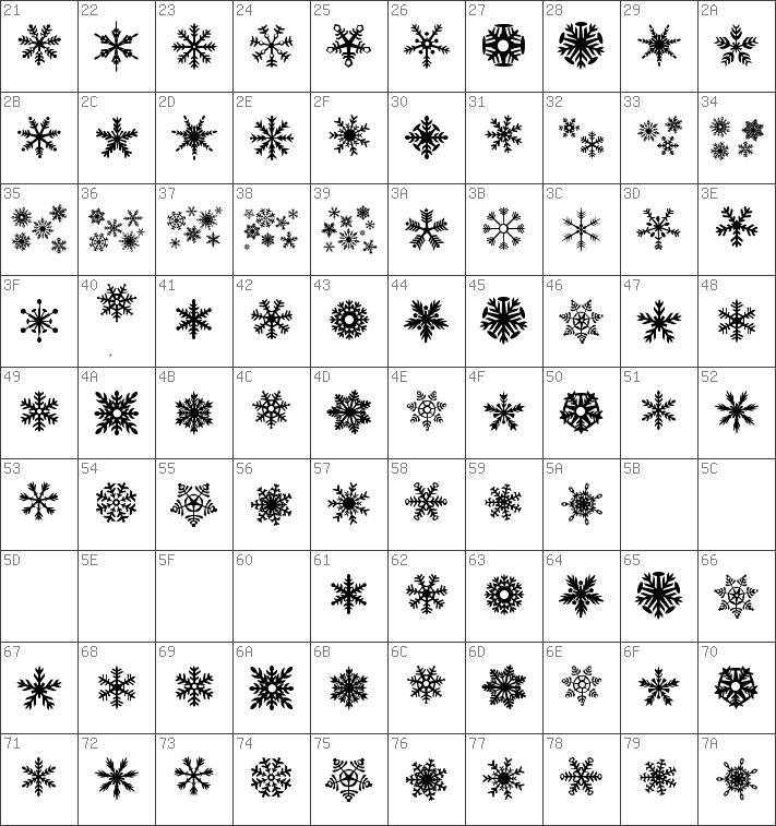Download Free Dh Snowflakes Regular Font Dafontfreenet