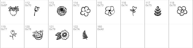 Download Free Janda Flower Doodles Regular Font Dafontfree Net