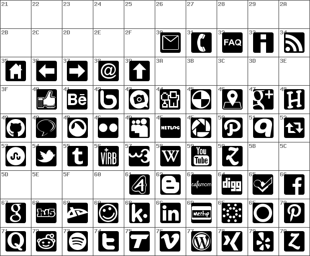 Download Download free Social Icons Pro Set 1 - Rounded Regular ...