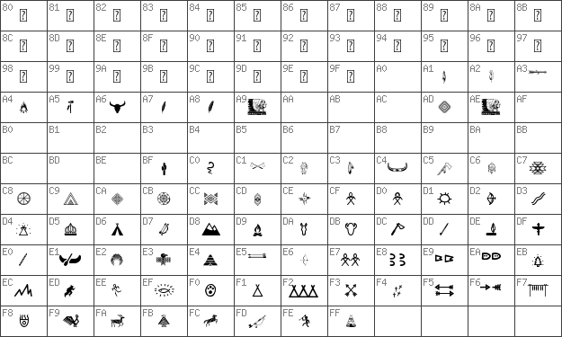 Char Unicode Native American Indians Regular