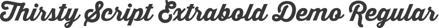 Thirsty Script Extrabold Demo Regular