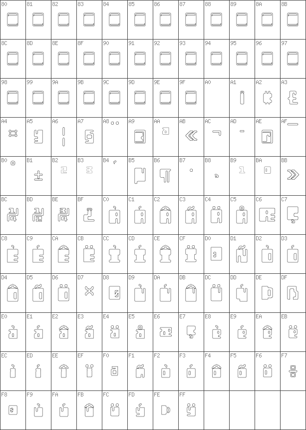 Char Unicode Orthotopes Hollow