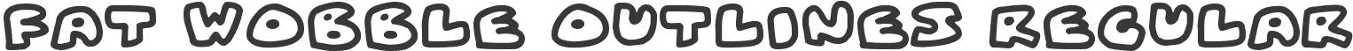 Download Fat Wobble Outlines Regular Font Free Fat