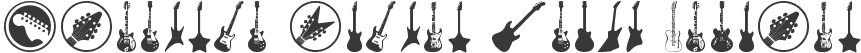 Electric Guitar Icons Regular