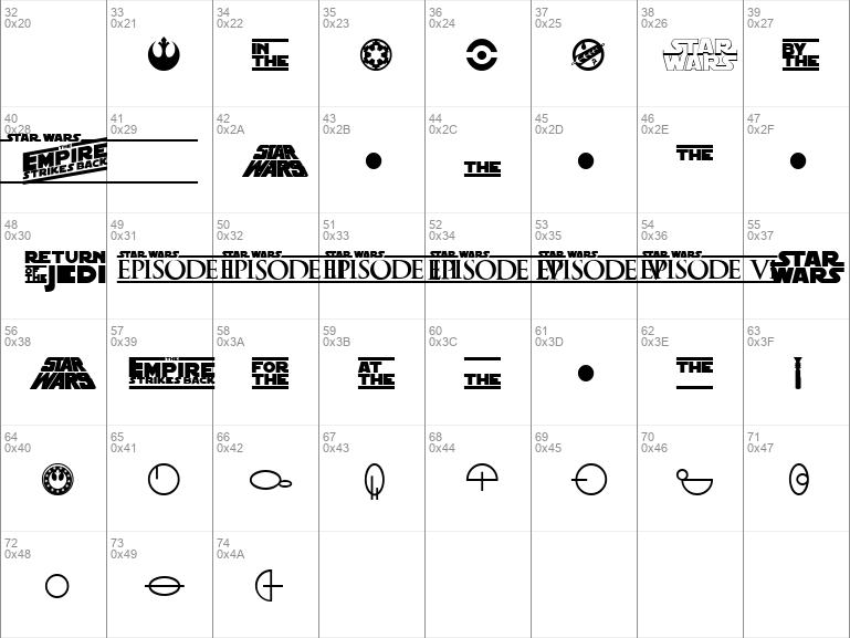 SF Distant Galaxy Symbols Regular