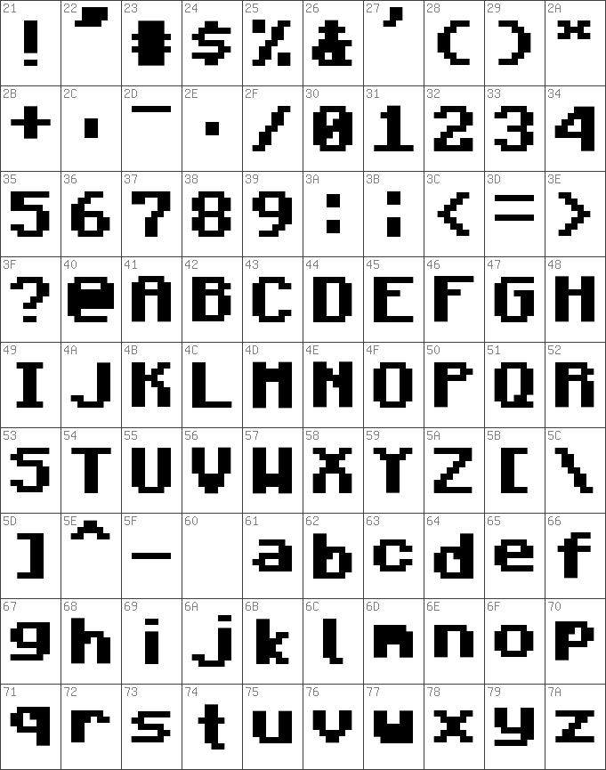 Download free Minecraft Bold font   dafontfree net